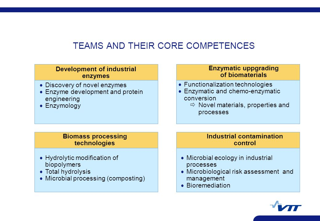 TEAMS AND THEIR CORE COMPETENCES