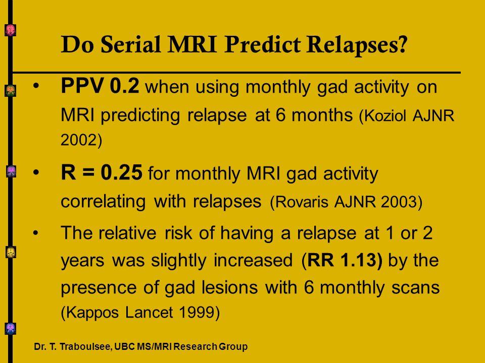Do Serial MRI Predict Relapses