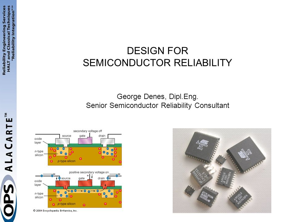 DESIGN FOR SEMICONDUCTOR RELIABILITY George Denes, Dipl. Eng