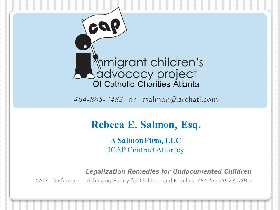 Rebeca E. Salmon, Esq. Of Catholic Charities Atlanta