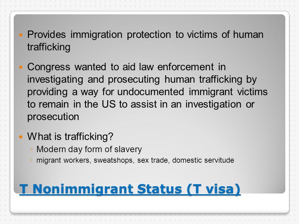 T Nonimmigrant Status (T visa)