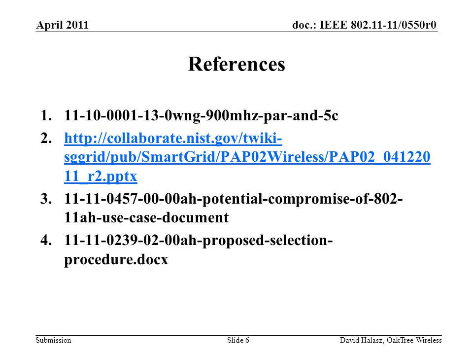 References 11-10-0001-13-0wng-900mhz-par-and-5c