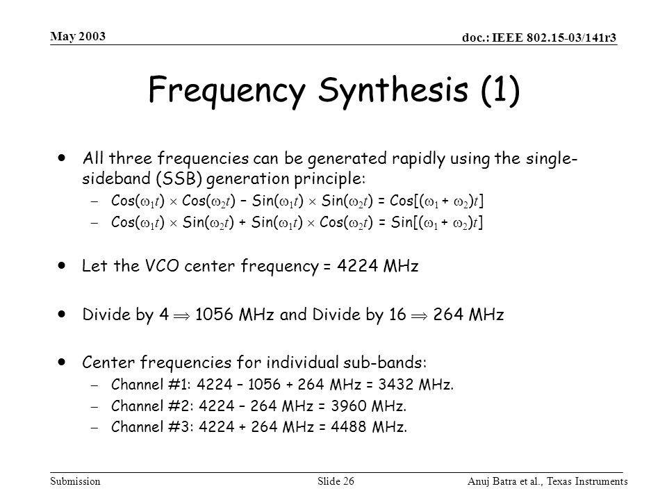 Frequency Synthesis (1)