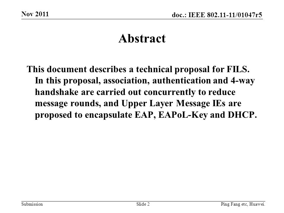 Month Year doc.: IEEE yy/xxxxr0. Nov Abstract.