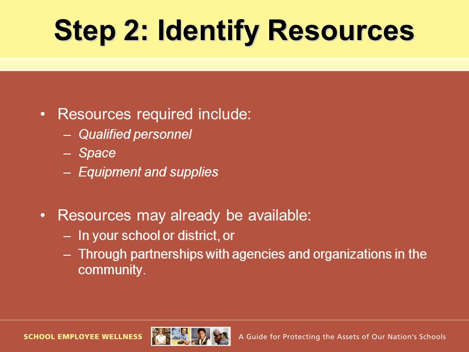 Step 2: Identify Resources