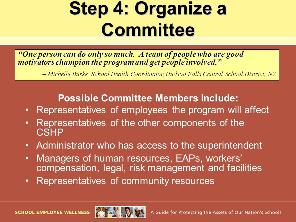 Step 4: Organize a Committee