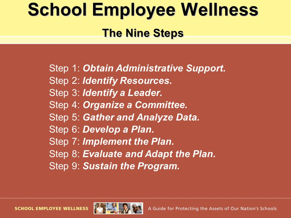 School Employee Wellness The Nine Steps