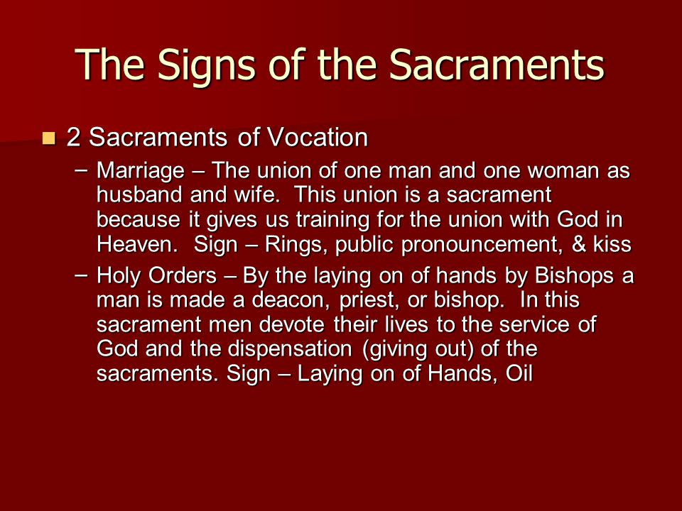 The Signs of the Sacraments