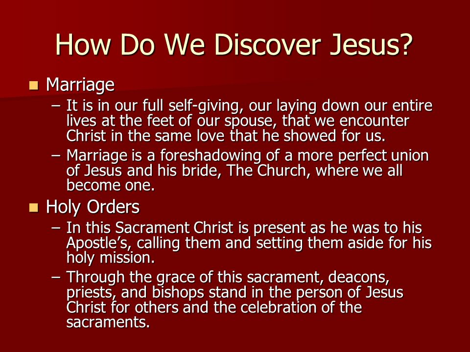 How Do We Discover Jesus