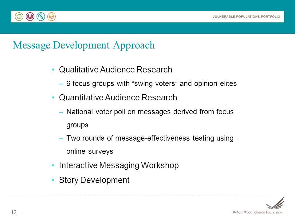 Message Development Approach