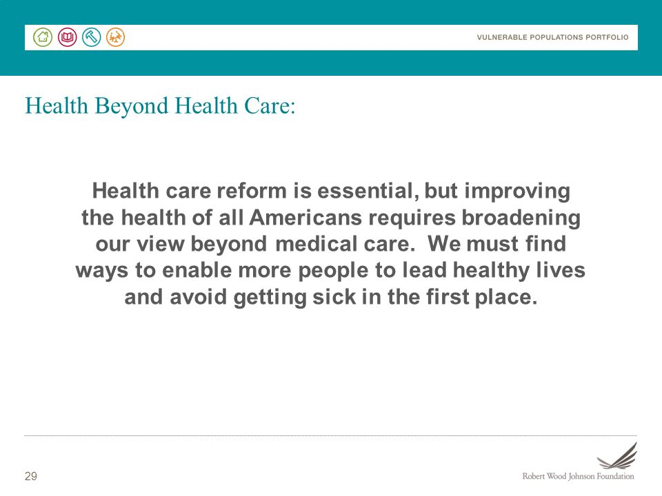 Health Beyond Health Care: