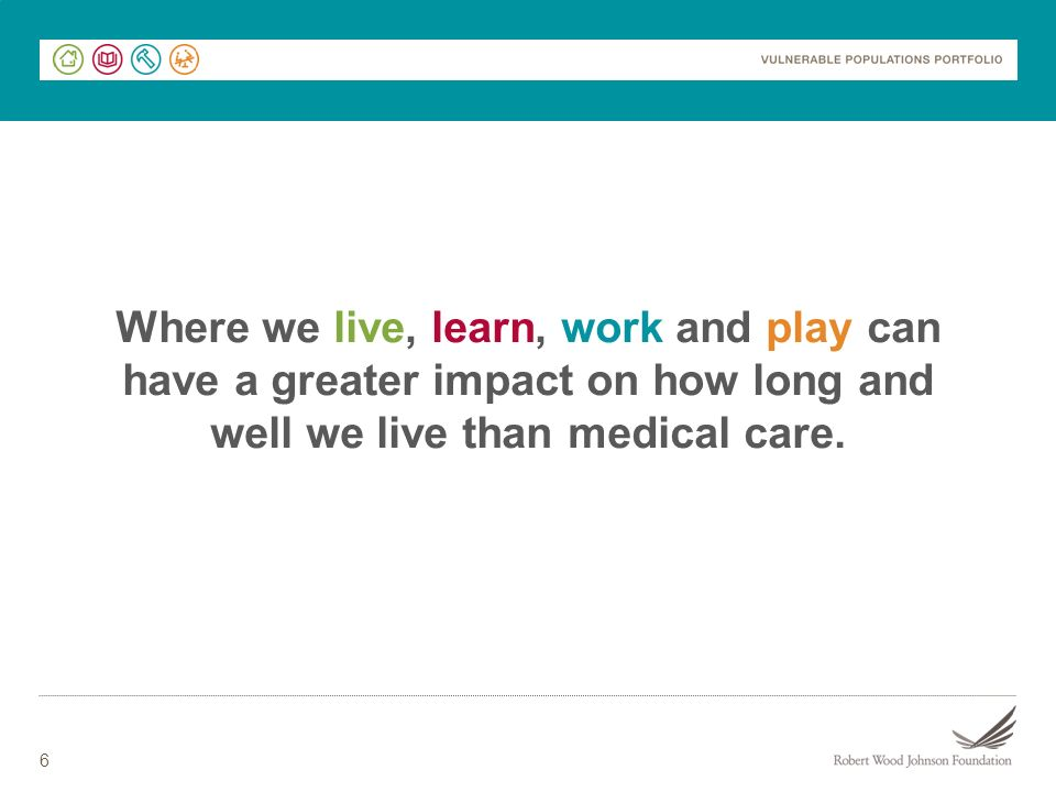 Where we live, learn, work and play can have a greater impact on how long and well we live than medical care.