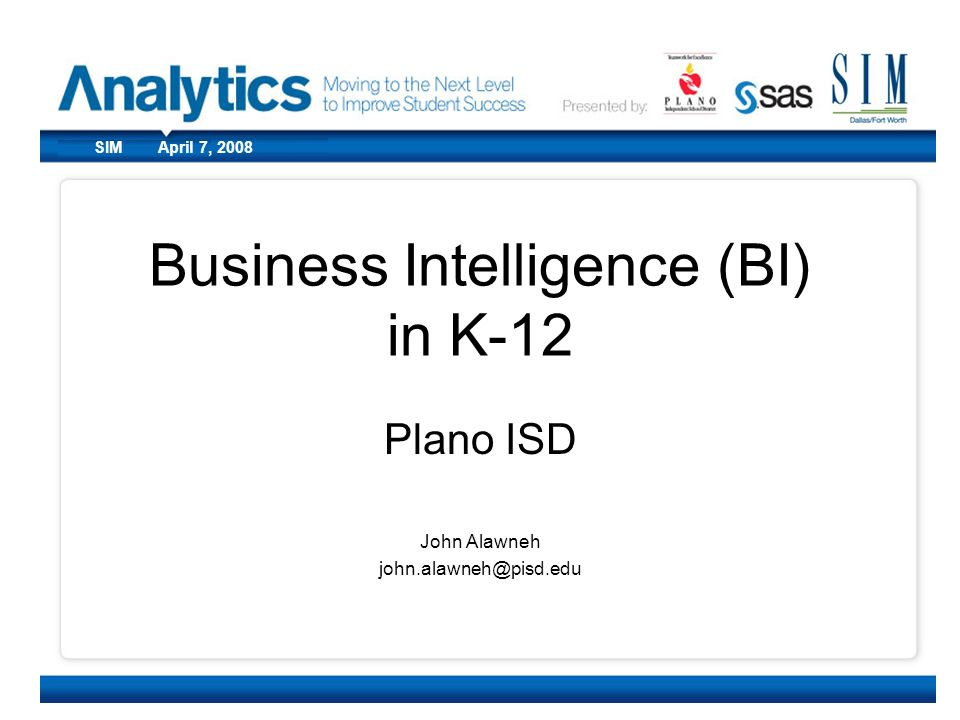 Business Intelligence (BI) in K-12