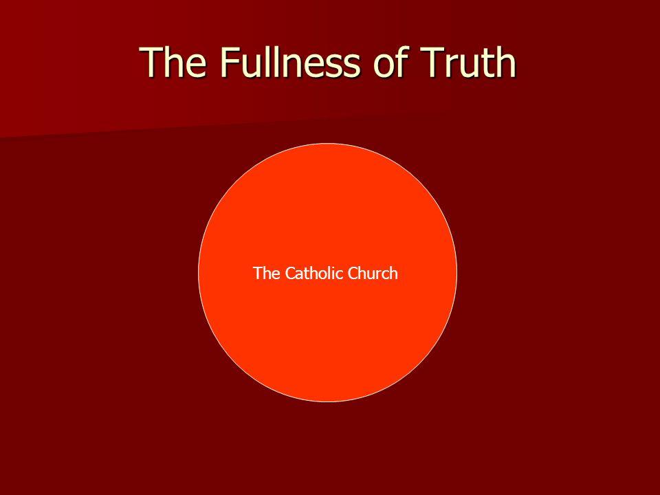 The Fullness of Truth The Catholic Church