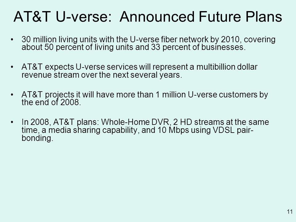 AT&T U-verse: Announced Future Plans