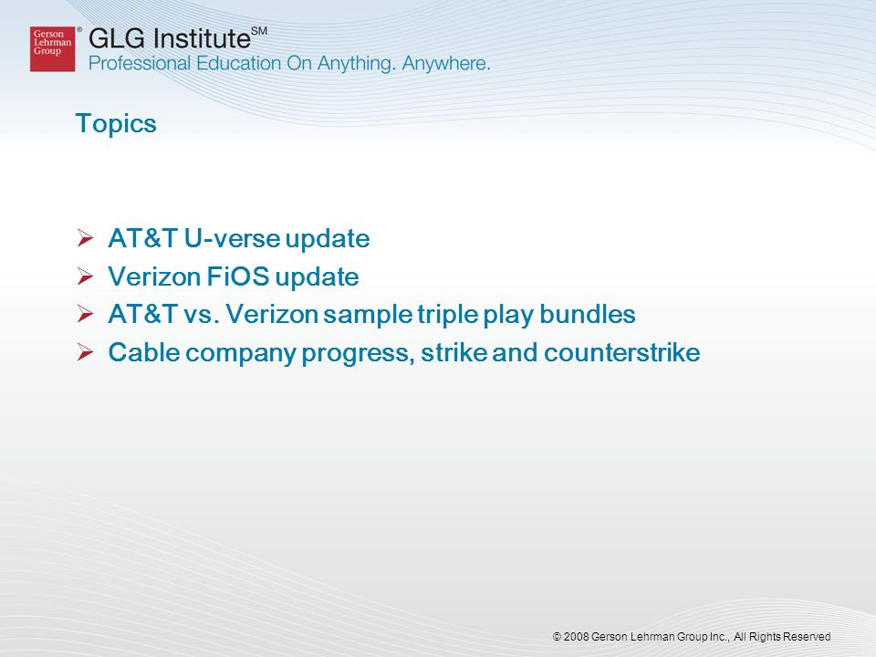 AT&T vs. Verizon sample triple play bundles