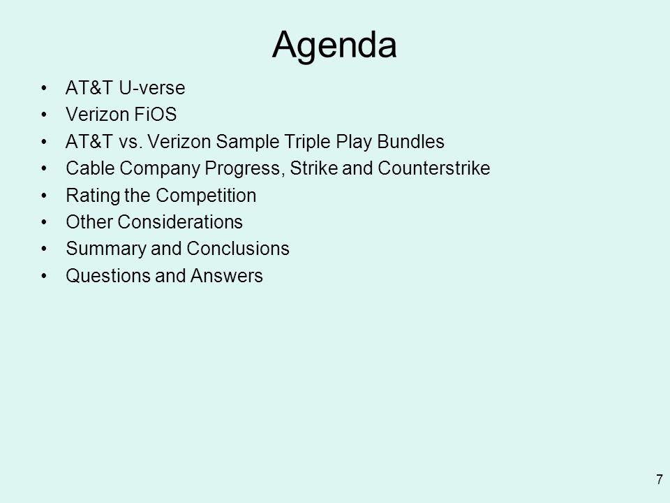 Agenda AT&T U-verse Verizon FiOS