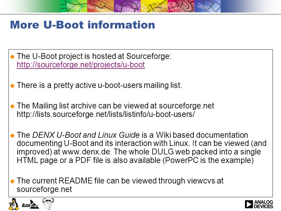 More U-Boot information