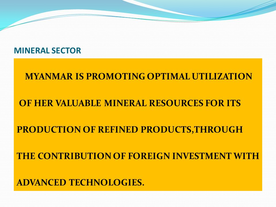 MINERAL SECTOR