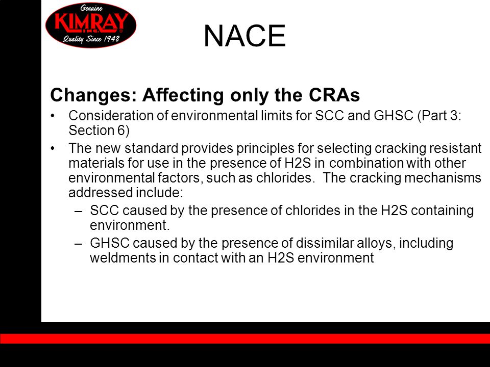 NACE Changes: Affecting only the CRAs