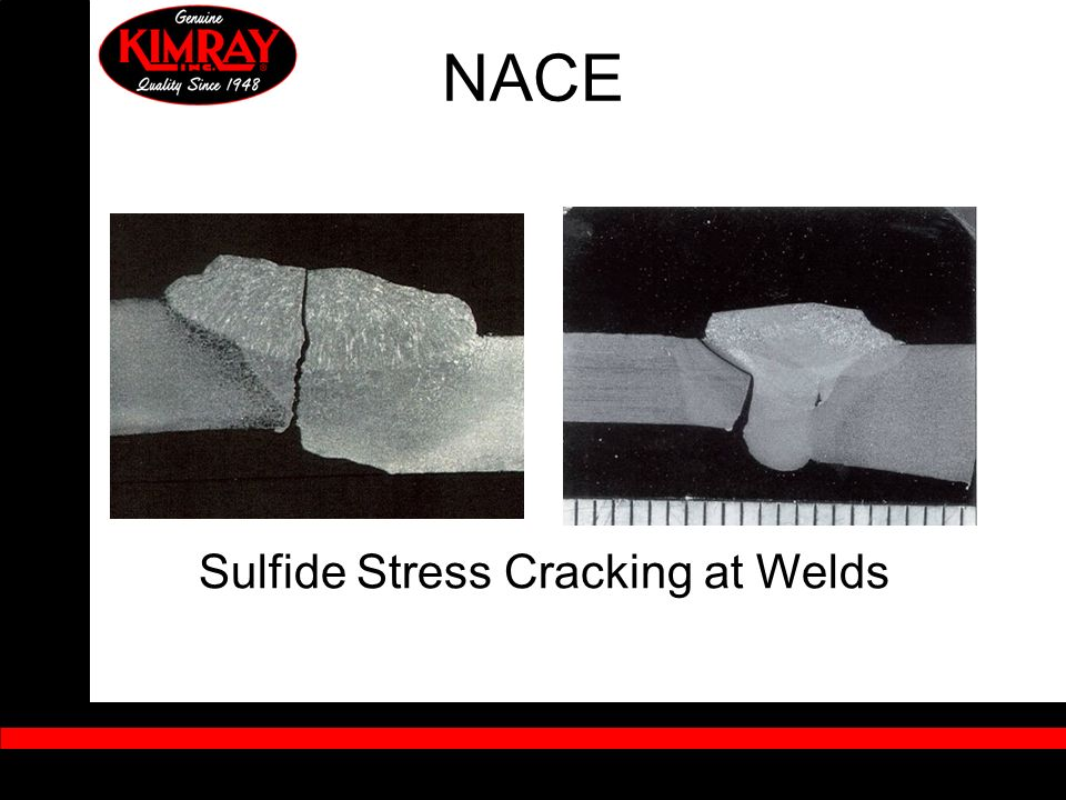 Sulfide Stress Cracking at Welds