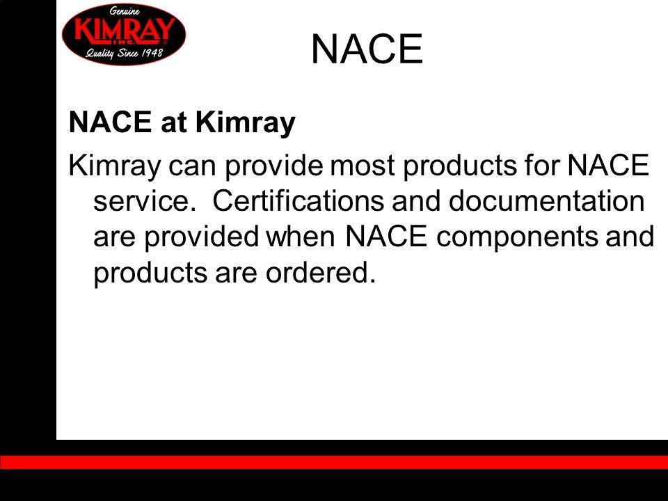 NACE NACE at Kimray.