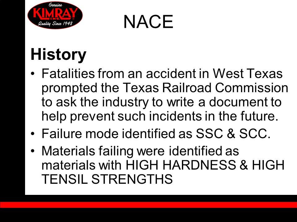 NACE History.