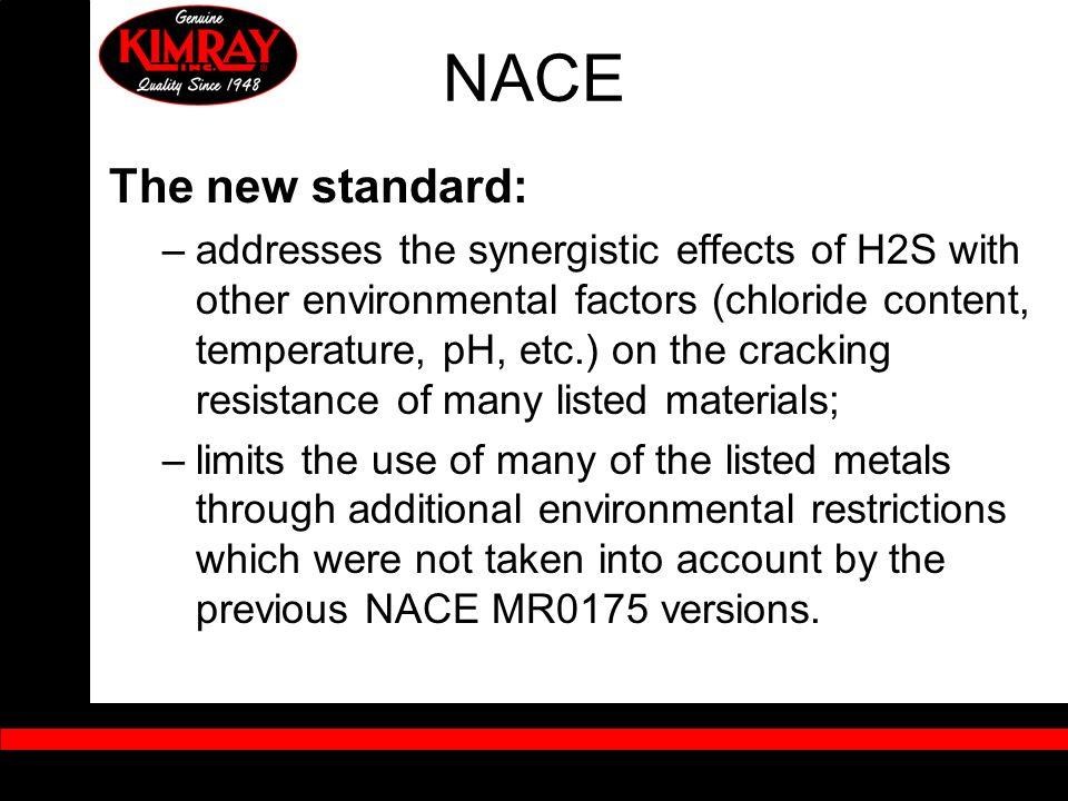 NACEThe new standard: