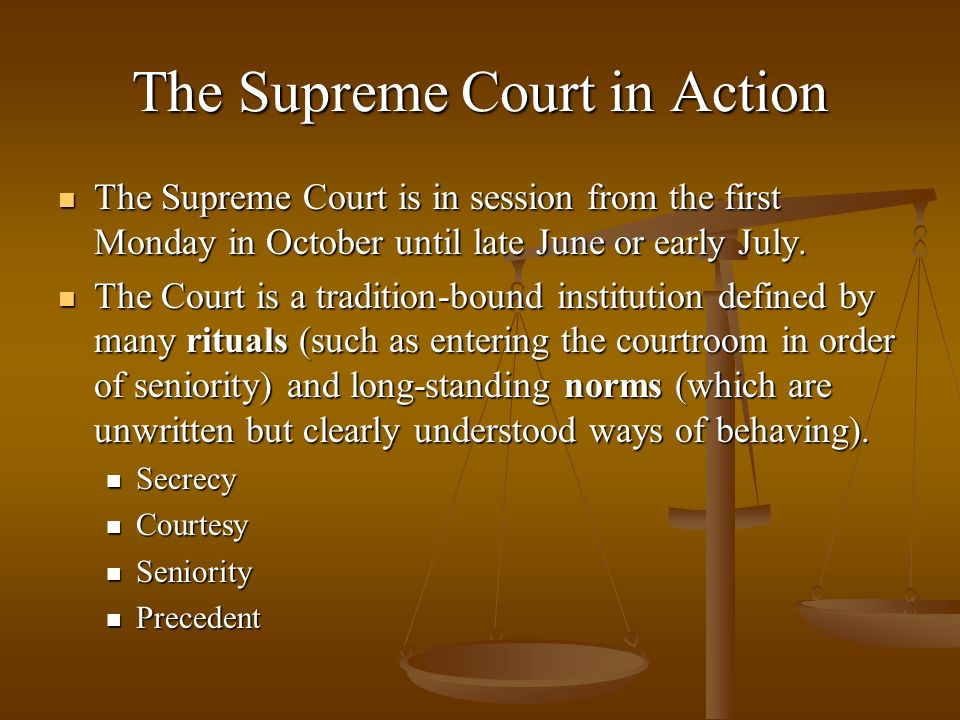 The Supreme Court in Action