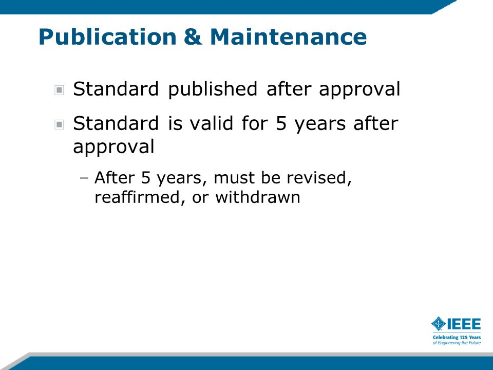 Publication & Maintenance