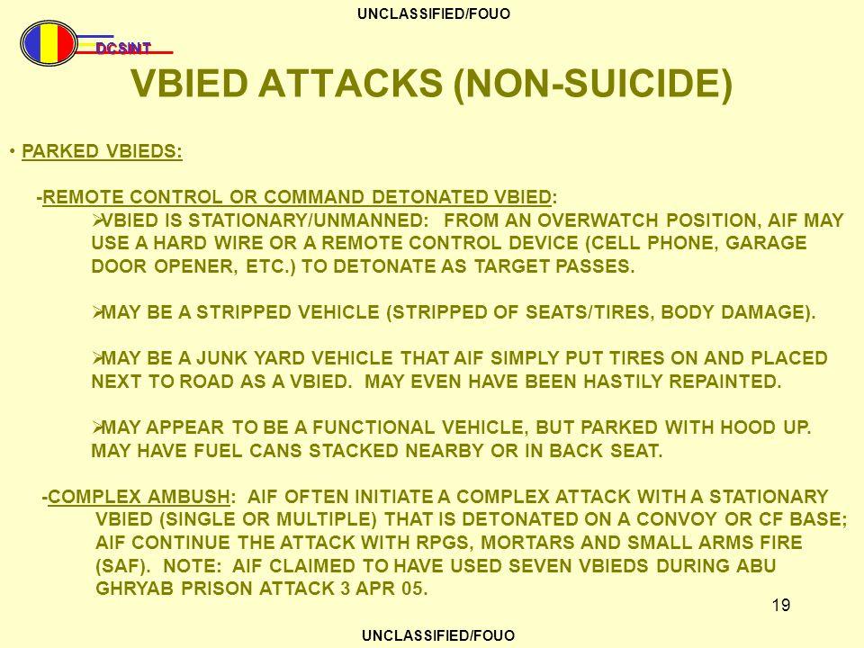 VBIED ATTACKS (NON-SUICIDE)