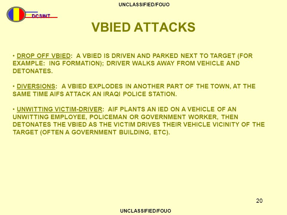 VBIED ATTACKS