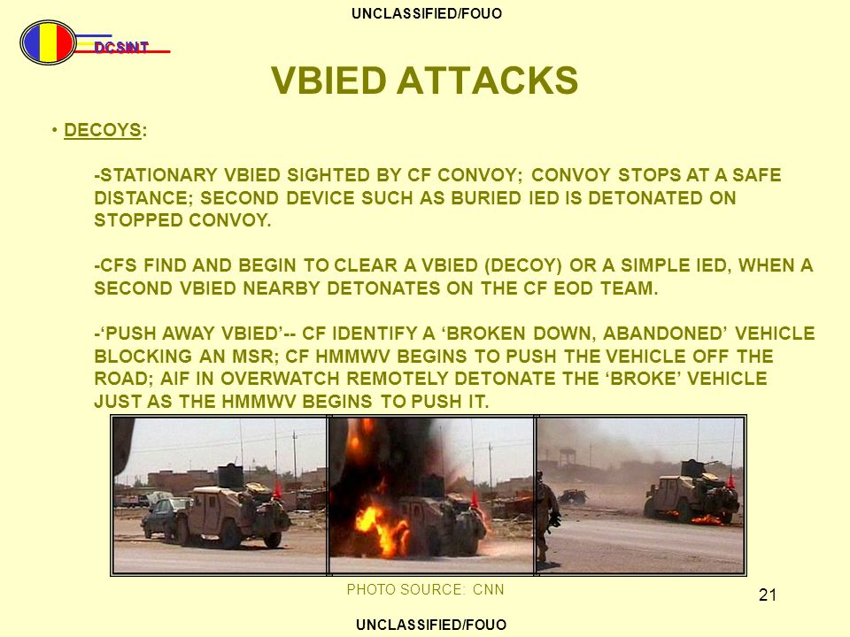 VBIED ATTACKS DECOYS: