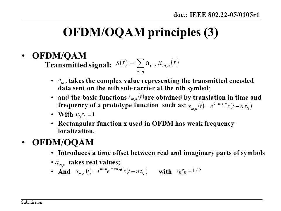 OFDM/OQAM principles (3)