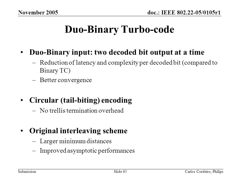 Duo-Binary Turbo-code