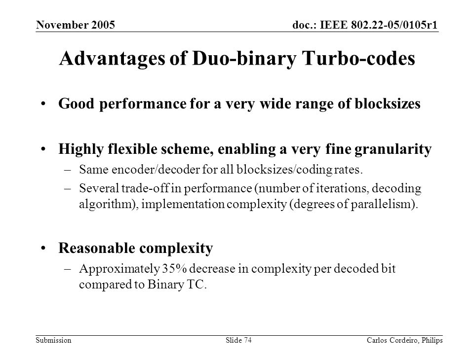 Advantages of Duo-binary Turbo-codes
