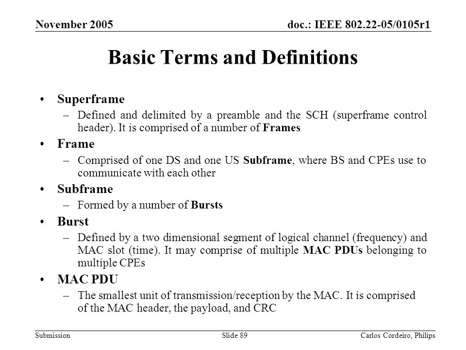Basic Terms and Definitions