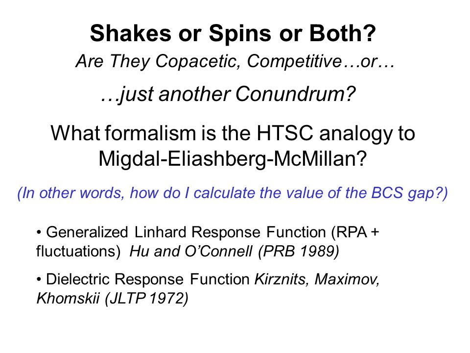 Shakes or Spins or Both …just another Conundrum
