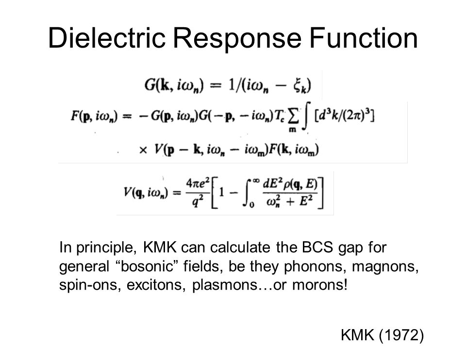 Dielectric Response Function