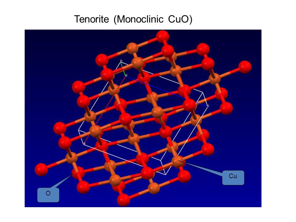 Tenorite (Monoclinic CuO)