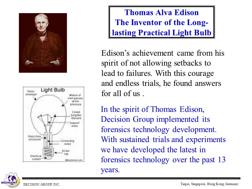Thomas Alva Edison The Inventor of the Long-lasting Practical Light Bulb