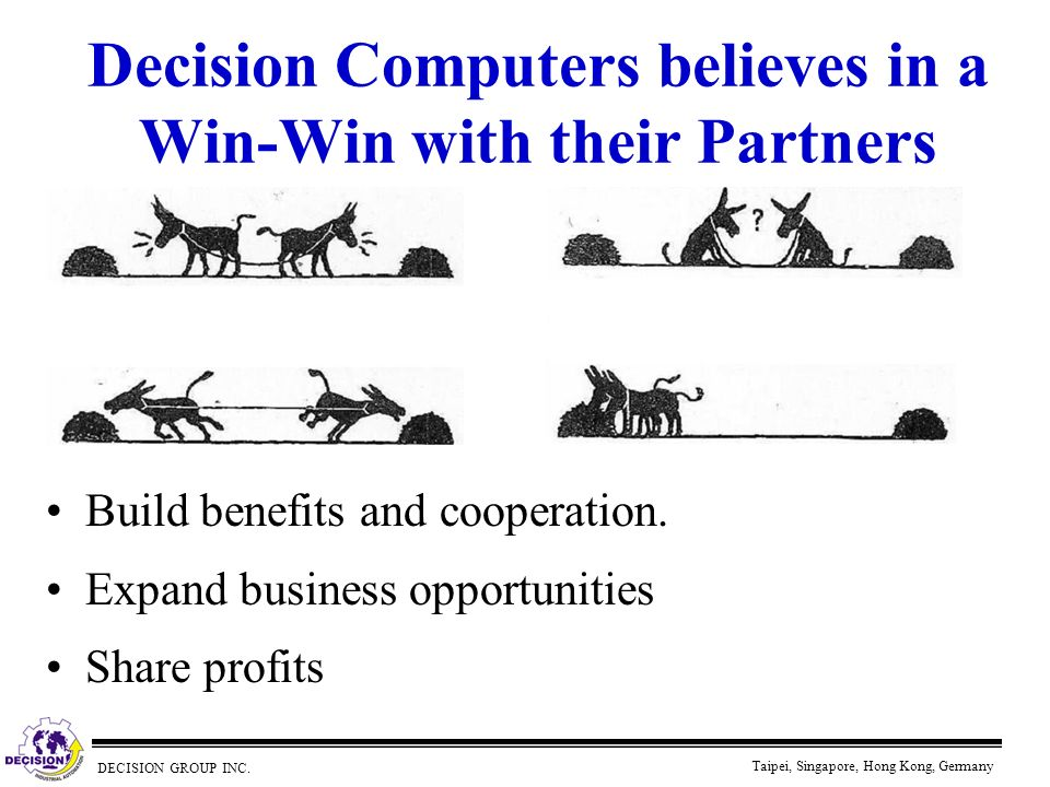 Decision Computers believes in a Win-Win with their Partners
