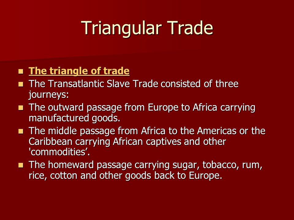 Triangular Trade The triangle of trade