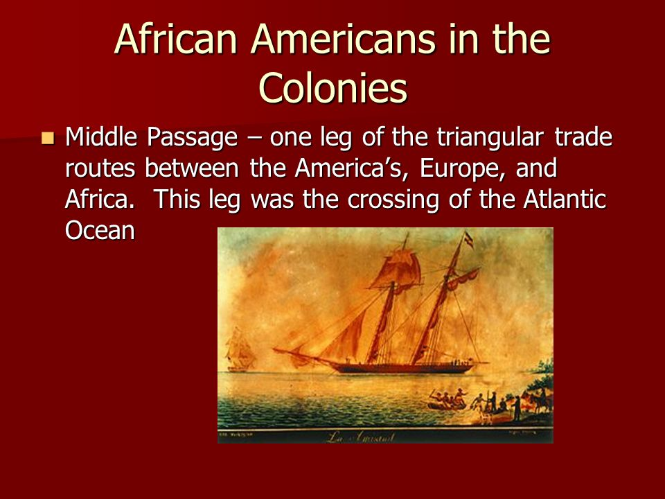 African Americans in the Colonies