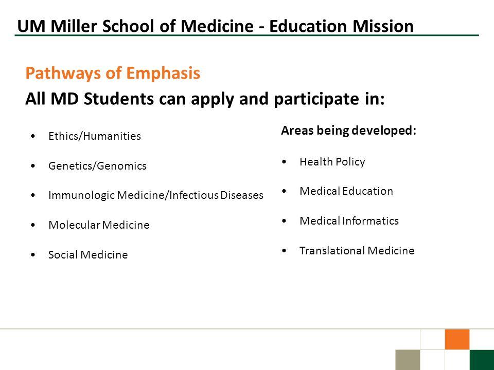 UM Miller School of Medicine - Education Mission