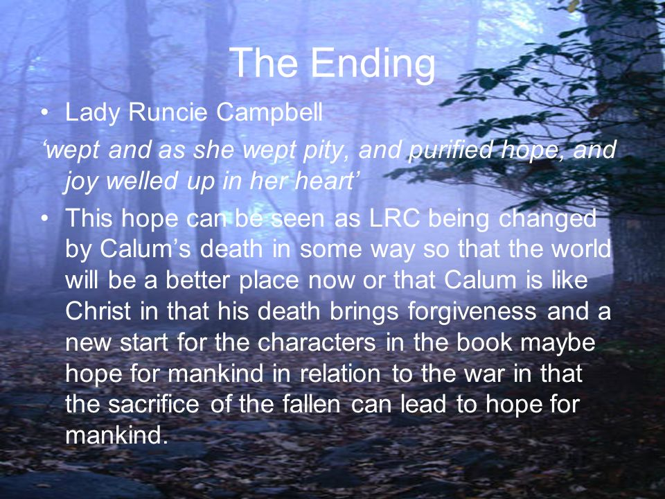 The Ending Lady Runcie Campbell