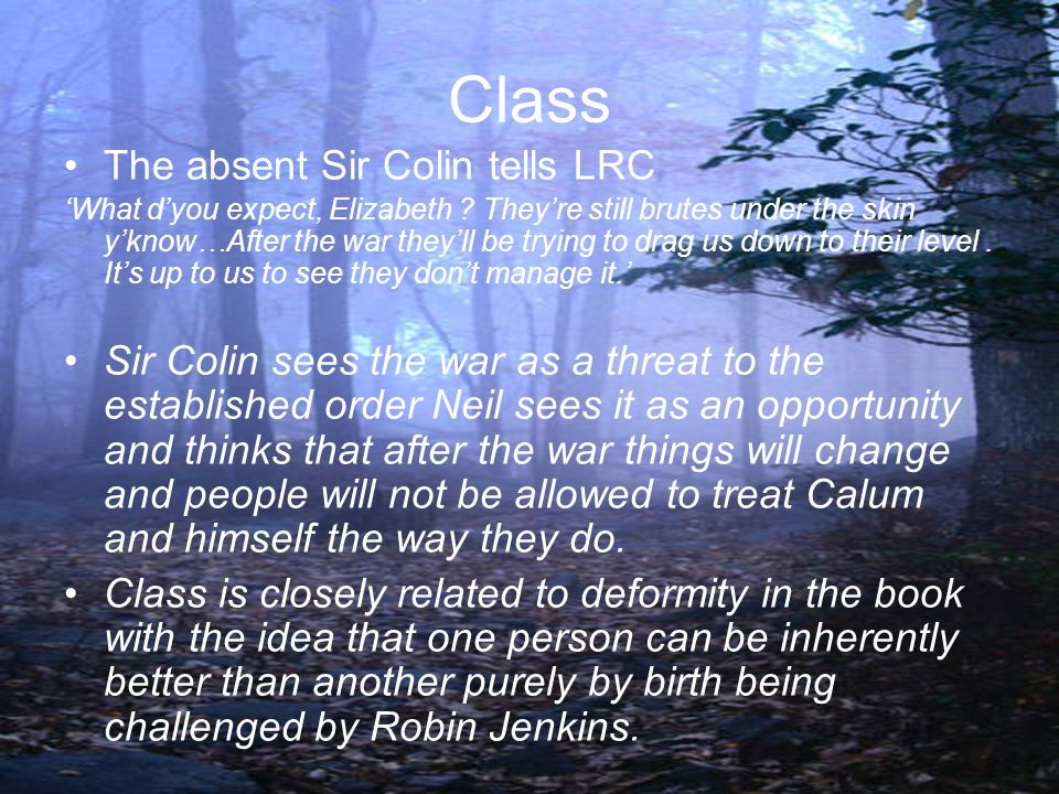 Class The absent Sir Colin tells LRC