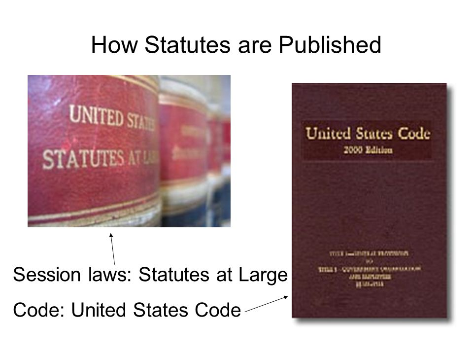 How Statutes are Published