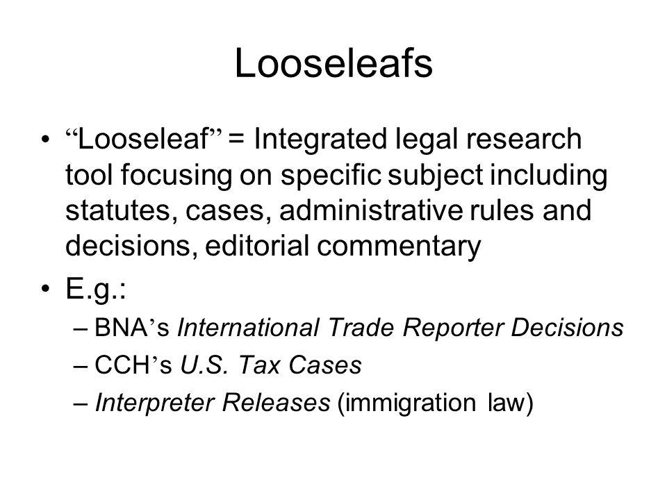 Looseleafs
