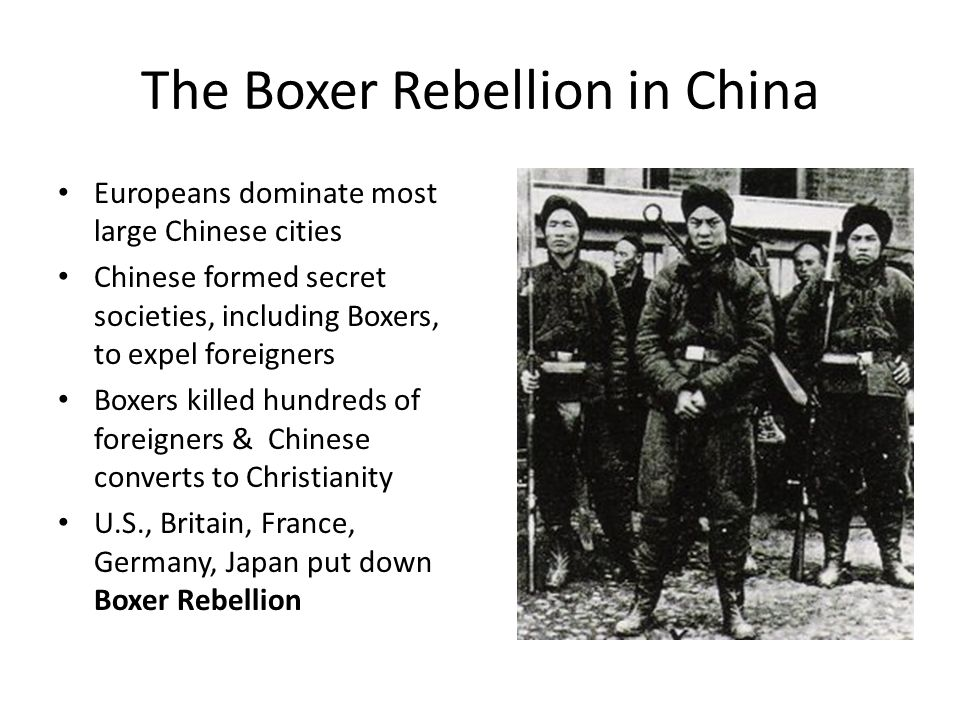 The Boxer Rebellion in China